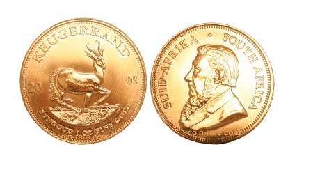 Krugerrand guldmynt från Sydafrika