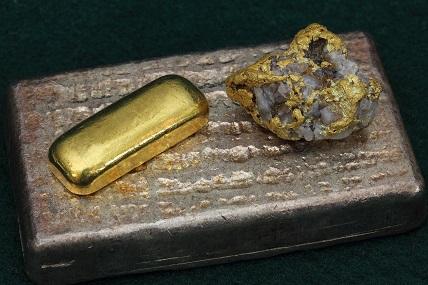 guld i sten samt guldtacka