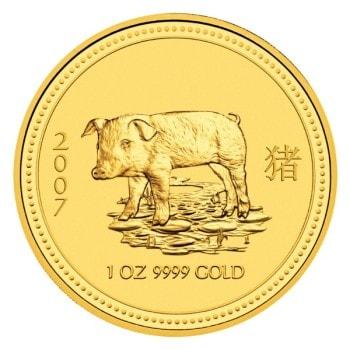 Lunar guldmynt - 2007 Grisens år